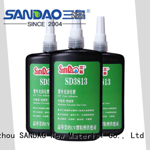 curing uv bonding glue free design for screws SANDAO