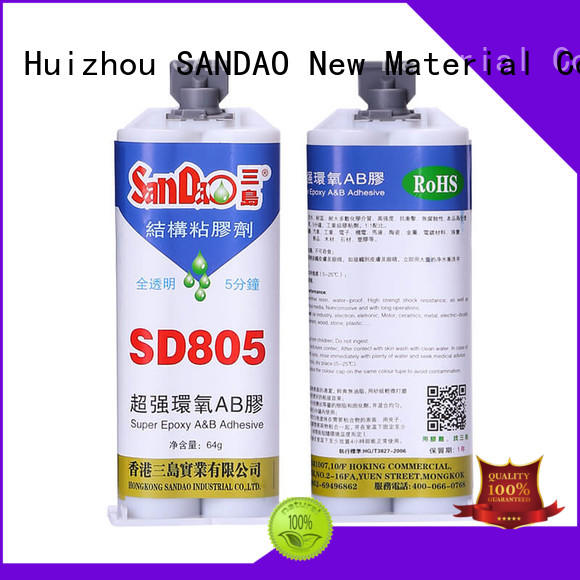 SANDAO transparent Two-component epoxy structure bonding at discount for Semiconductor refrigeration