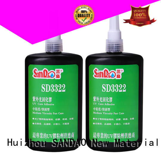 SANDAO first-rate uv bonding glue metal for electronic products