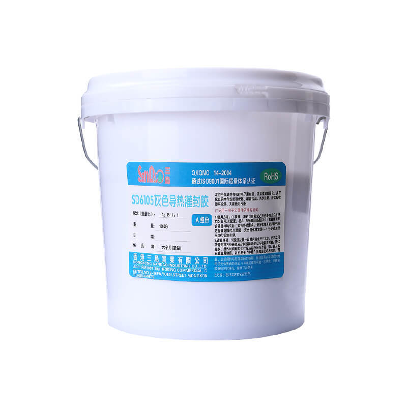 Two-component flame-retardant heat-conductive potting adhesive SD6105
