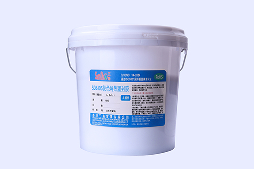 Two-component flame-retardant heat-conductive potting adhesive SD6105-9