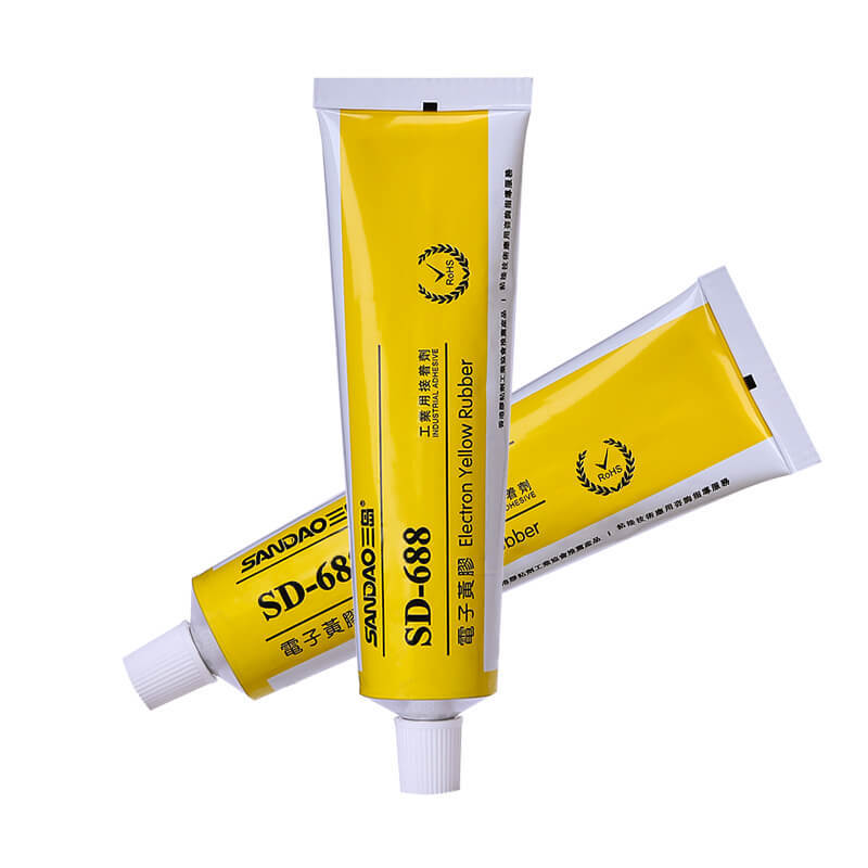 Electronic flame retardant yellow adhesive SD688