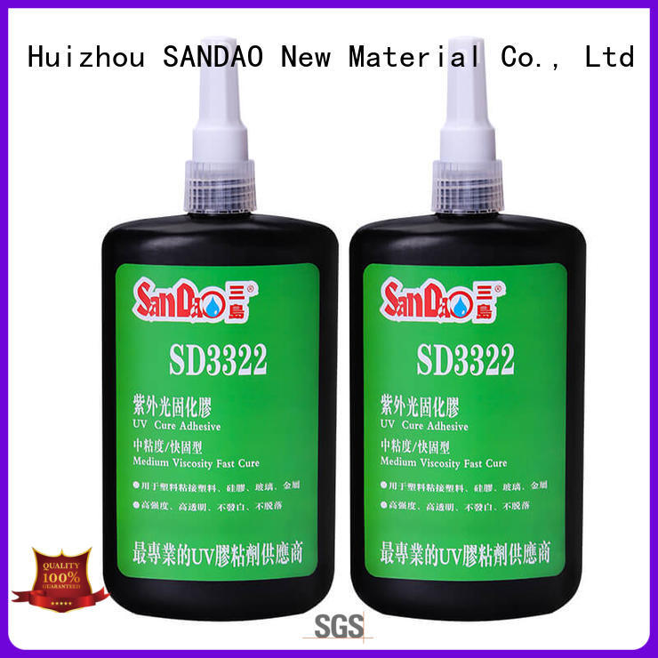 SANDAO curing uv bonding glue factory price for electrical products