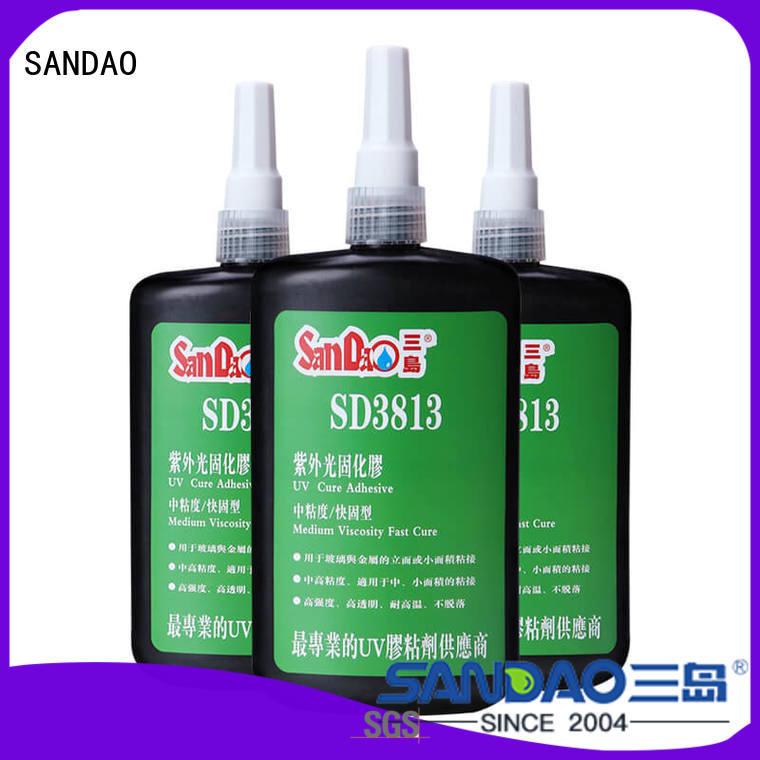 SANDAO plastics uv adhesive for glass from manufacturer for screws