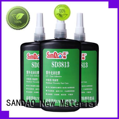 SANDAO good-package uv bonding glue bulk production for fixing products