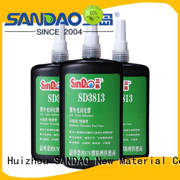 SANDAO resin uv bonding glue from manufacturer for screws