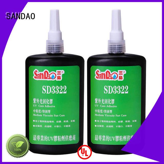 SANDAO metal uv bonding glue free design for electronic products
