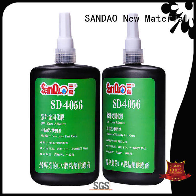 SANDAO curing uv bonding glue factory price for screws
