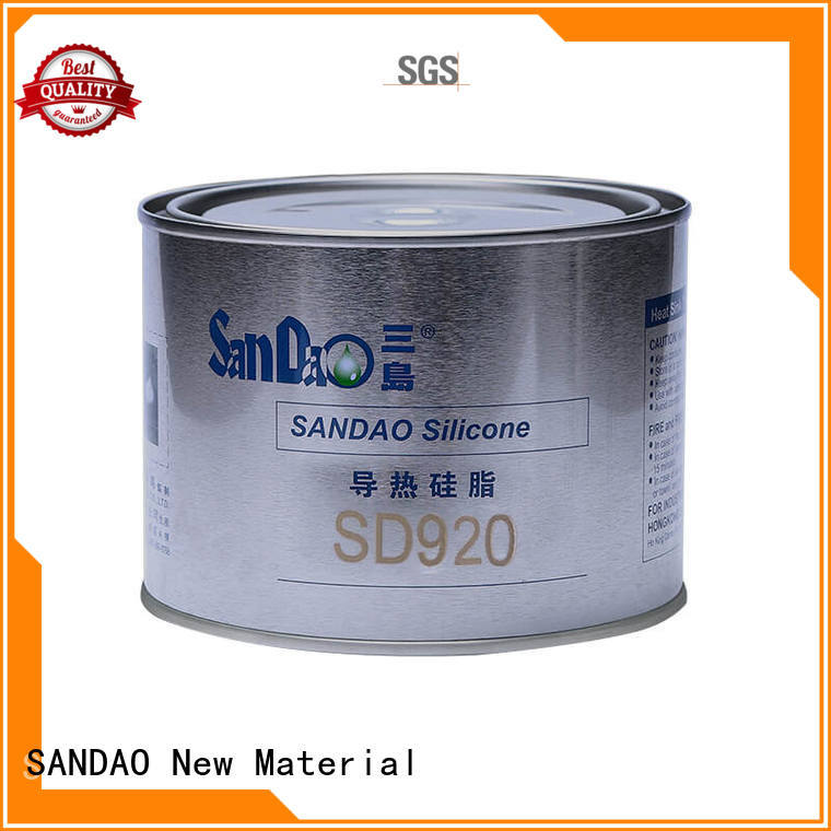 SANDAO silicone Thermal conductive material TDS producer for Semiconductor refrigeration