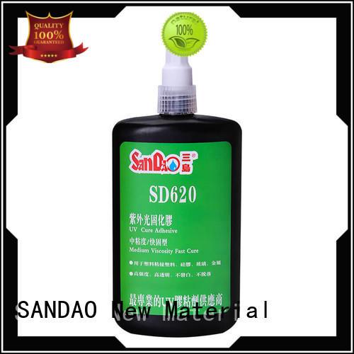 SANDAO plastics uv bonding glue check now for fixing products