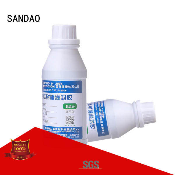 SANDAO organic Two-component addition-type potting adhesive TDS widely-use for electroplating