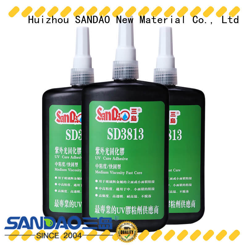 SANDAO reasonable uv bonding glue bulk production for fixing products