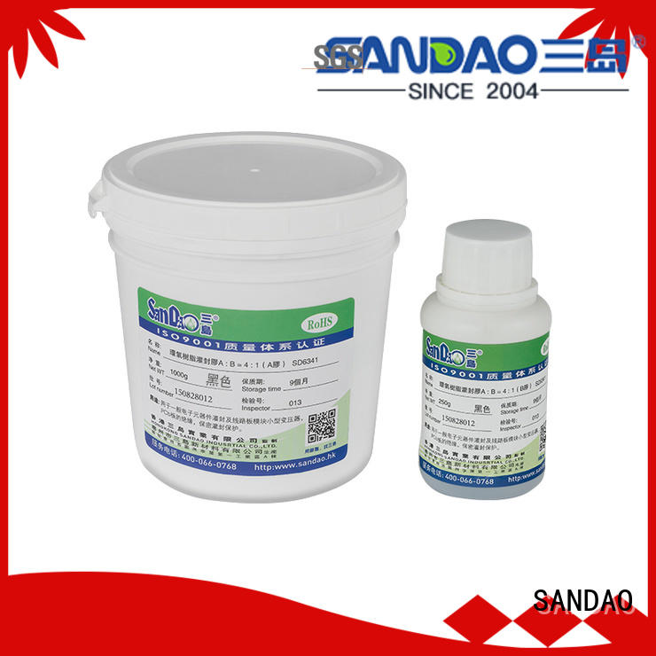 SANDAO potting Two-component addition-type potting adhesive TDS manufacturer for glass parts