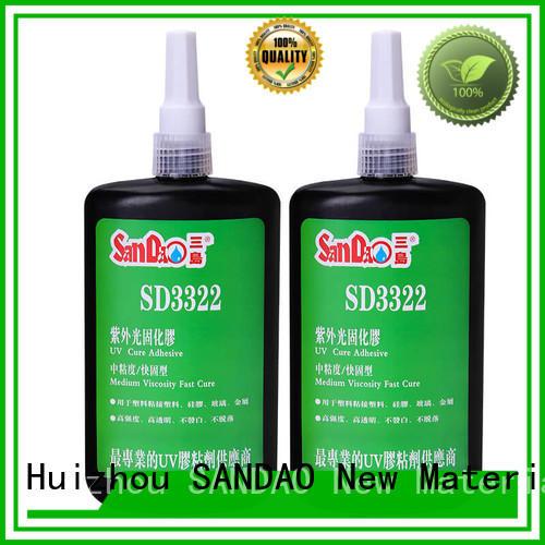 uv glue for glass resistant metal adhesive SANDAO Brand UV glue