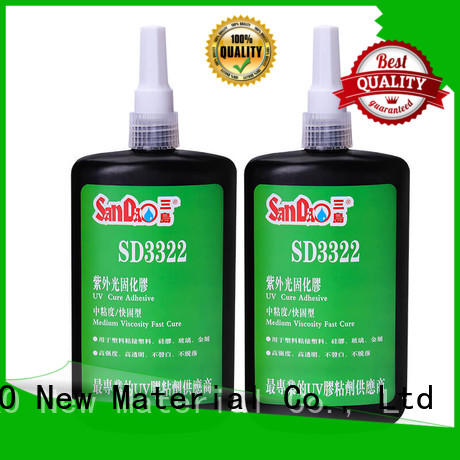 SANDAO plastics uv bonding glue from manufacturer for electrical products