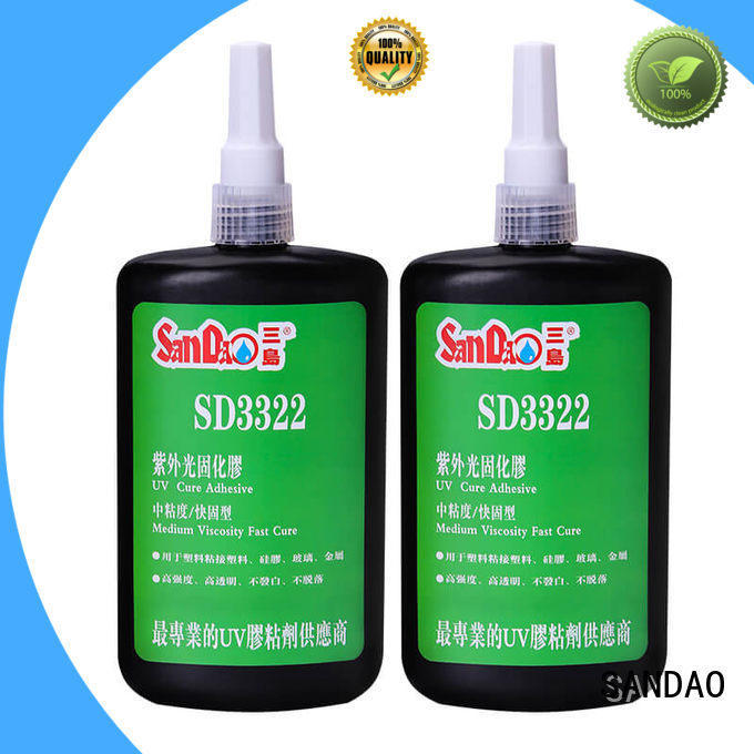 SANDAO resin uv adhesive for glass bulk production for electronic products