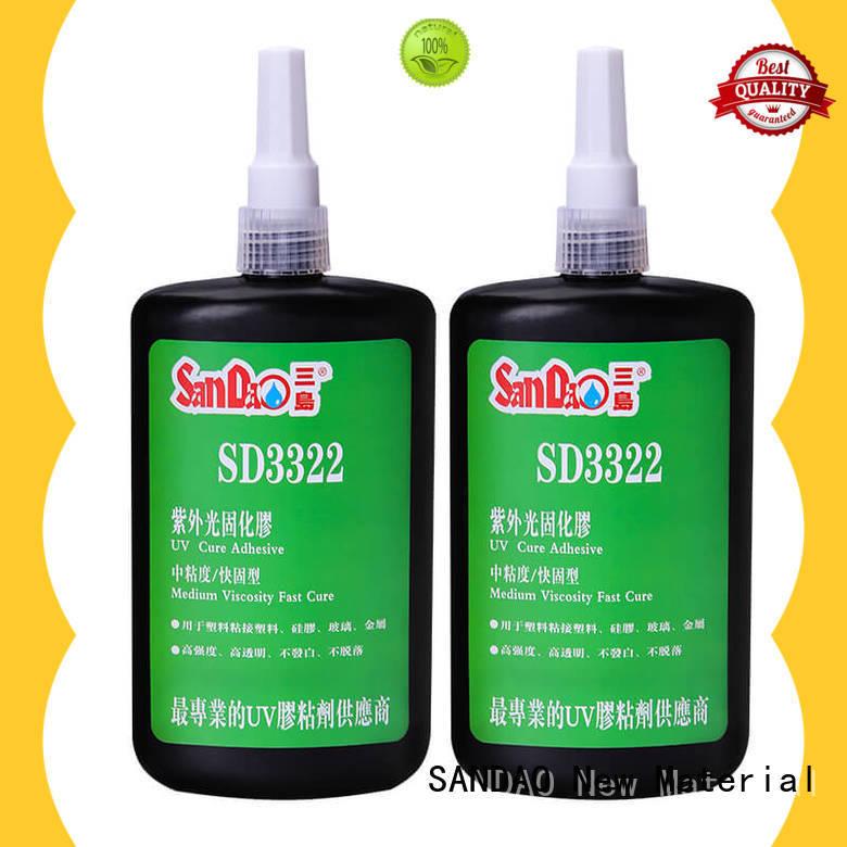 SANDAO plastics uv bonding glue for screws