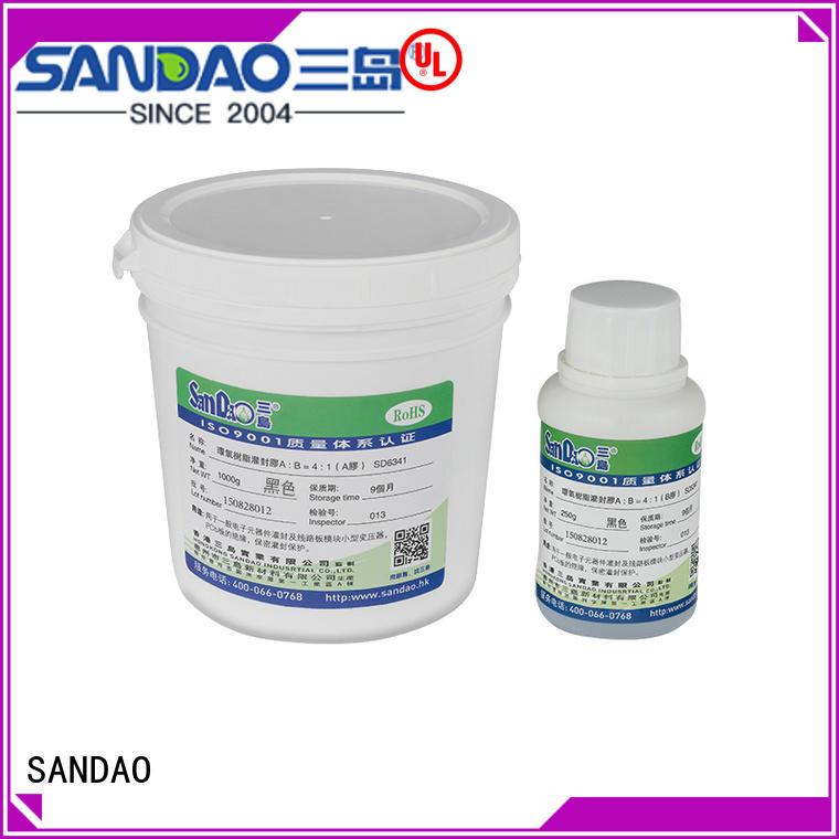 SANDAO fine- quality Two-component addition-type potting adhesive TDS factory for glass parts