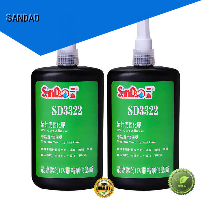 SANDAO best uv bonding glue from manufacturer for electrical products