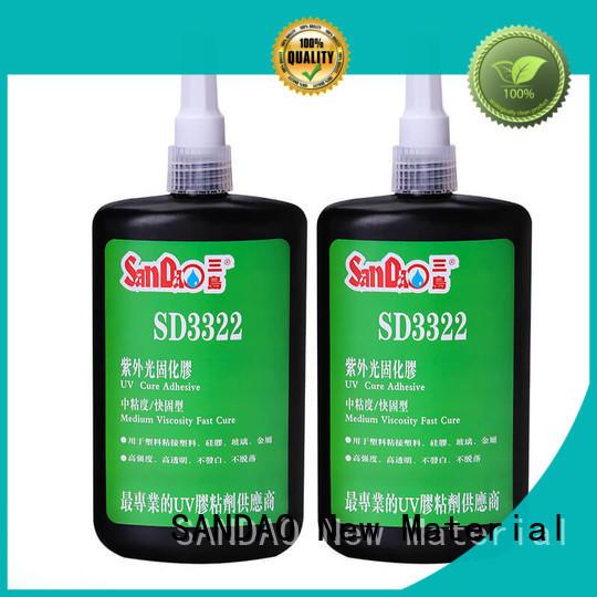 SANDAO curing uv bonding glue for wholesale for screws