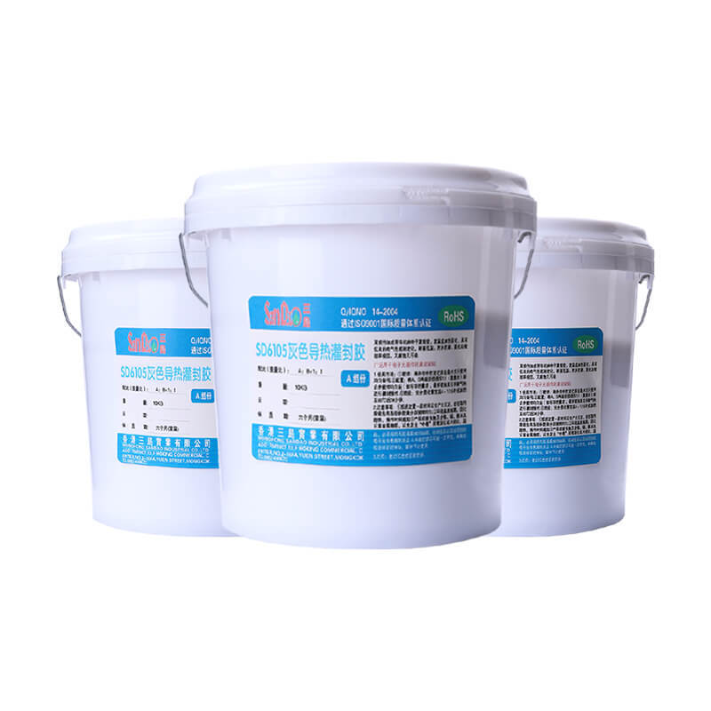 Two-component flame-retardant heat-conductive potting adhesive SD6105-1