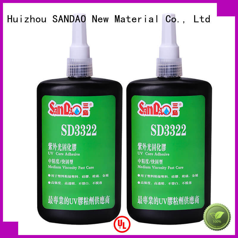 SANDAO first-rate uv bonding glue bulk production for electrical products