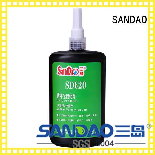 resin uv bonding glue from manufacturer for screws SANDAO