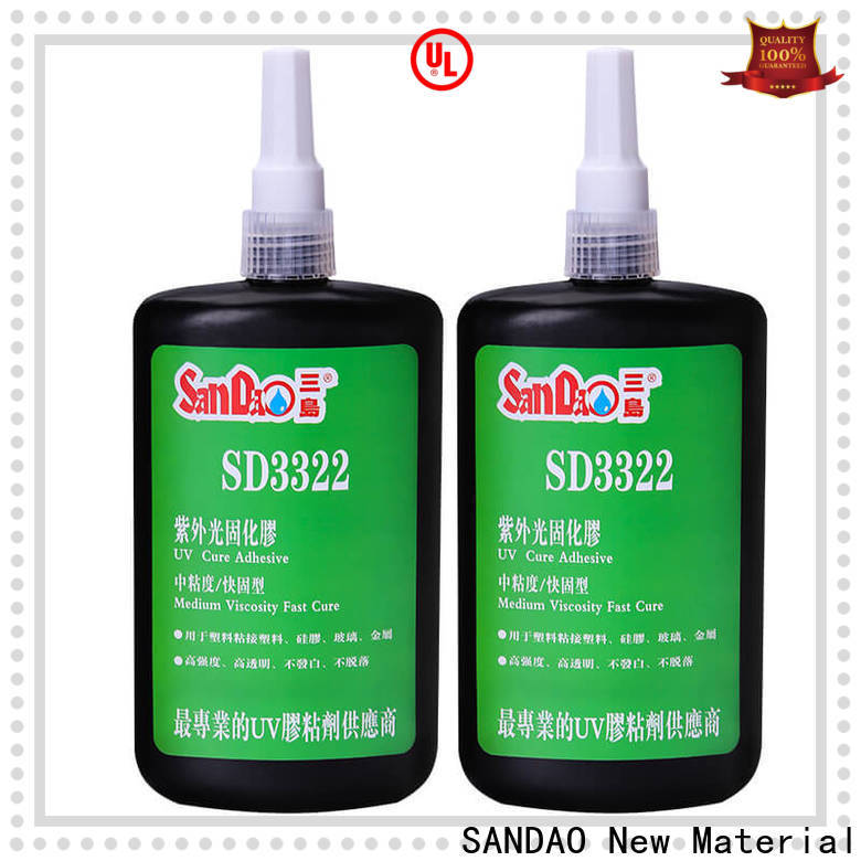 SANDAO plastics uv bonding glue at discount for electronic products