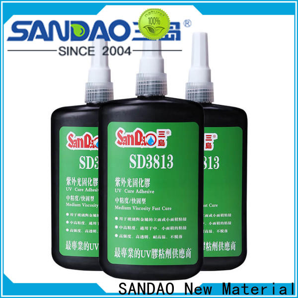 SANDAO resin uv bonding glue bulk production for fixing products