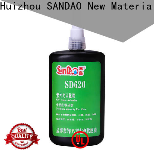 SANDAO plastics uv bonding glue bulk production for screws