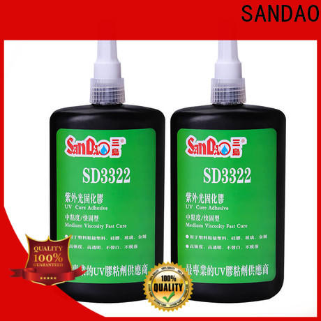 SANDAO inexpensive uv adhesive for glass bulk production for fixing products