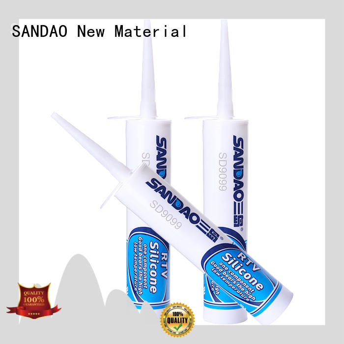 SANDAO waterproof One-component RTV silicone rubber TDS factory for screws