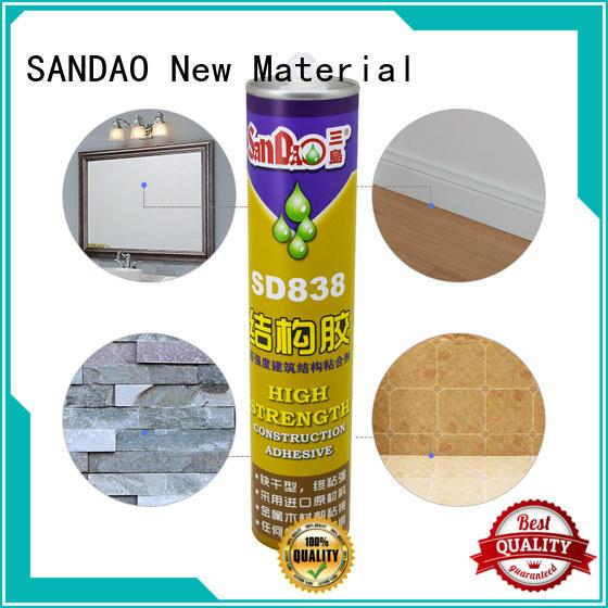 SANDAO durable modified silane nail free adhesive vendor corrosion resistance