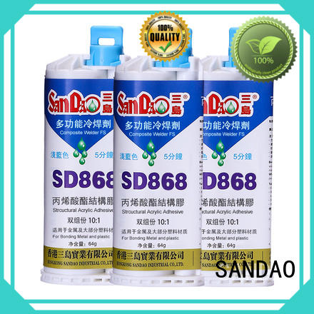 SANDAO parts clear epoxy glue marketing for electroplating