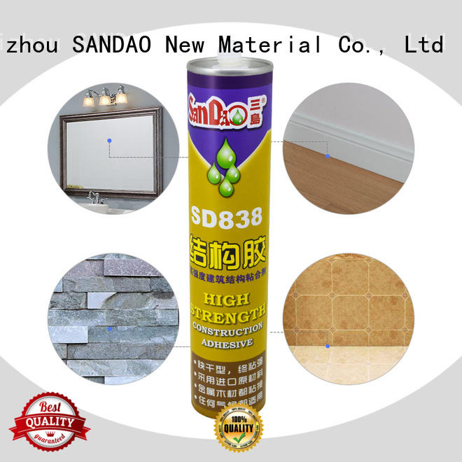 SANDAO durable modified silane nail free adhesive with good price corrosion resistance